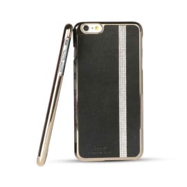 iSecret ® Apple iPhone 6 / 6S Luxury Swarovski Diamond Carpio Slim Leather + Gold Electroplating Back Cover
