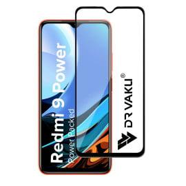 Dr. Vaku ® Xiaomi Redmi 9 Power Full Edge-to-Edge Ultra-Strong Ultra-Clear Full Screen Tempered Glass- Black