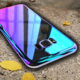 Vaku ® Samsung Galaxy S8 Infinity Series with UV Colour Shine Transparent Full Display PC Back Cover
