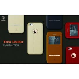 Baseus ® Apple iPhone 6 Plus / 6S Plus Smart Terse WindowView Suede Leather Case Flip Cover
