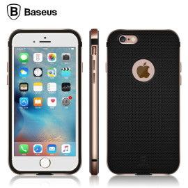 Baseus ® Apple iPhone 6 / 6S Earl Series Dream Mesh TPU Case With Metal Bumper Back Cover
