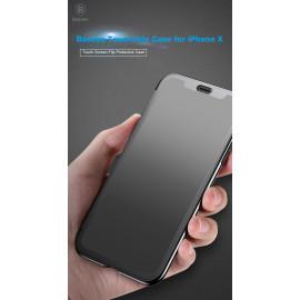 Baseus ® Apple iPhone X / XS Translucent Touch Sensible Flip case