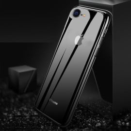 Vaku ® Apple iPhone 8 Club Series Ultra-Shine Luxurious Tempered Finish Silicone Frame Thin Back Cover