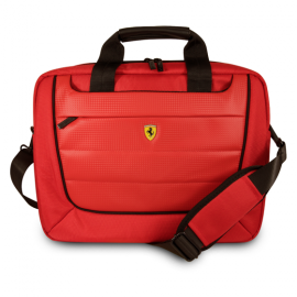 "Ferrari Scuderia ® Laptop Bag 15"" with Cushion Support & Multiple Pockets"