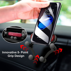 VAKU ® Air vent Mount Grip Phone Car Holder with Inbuilt Shock Absorber