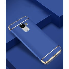 Vaku ® Samsung Galaxy A8 Plus Ling Series Ultra-thin Metal Electroplating Splicing PC Back Cover