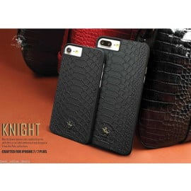 Santa Barbara Polo Club ® Apple iPhone 7 Knight Series Crocodile Finish PU Leather Back Cover