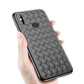 Vaku ® Xiaomi Redmi Note 5 Pro WeaveNet Series Cross-Knitt Heat-Dissipation Edition Ultra-Thin TPU Back Cover