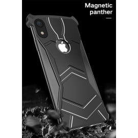 VAKU ® Apple iPhone XR Magnetic Panther Aluminium Metal Shock-Proof Anti-Fall Bumper Back Cover