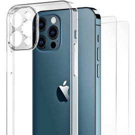 Vaku ® Apple iPhone 12 /12 Pro/12 Pro Max Clear Lens Protection Transparent TPU Back Cover[ Only Back Case ]