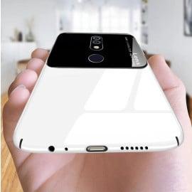 Vaku ® Nokia 6.1 Plus Polarized Glass Glossy Edition PC 4 Frames + Ultra-Thin Case Back Cover