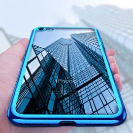 Vaku ® Apple iPhone 8 Wanchi Series Electroplated Shine Bumper Finish Full-View Display Soft TPU Back Cover