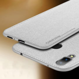Vaku ® Vivo V9 Youth / V9 Luxico Series Hand-Stitched Cotton Textile Ultra Soft-Feel Shock-proof Water-proof Back Cover