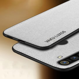 Vaku ® Oppo Realme 5 Luxico Series Hand-Stitched Cotton Textile Ultra Soft-Feel Shock-proof Water-proof Back Cover