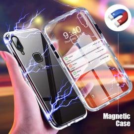 Vaku ® Vivo V9 Electronic Auto-Fit Magnetic Wireless Edition Aluminium Ultra-Thin CLUB Series Back Cover