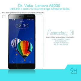 Dr. Vaku ® Lenovo A6000 Ultra-thin 0.2mm 2.5D Curved Edge Tempered Glass Screen Protector Transparent