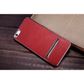 Nillkin ® Apple iPhone 8 Plus Ultra-thin Leather with Electroplating + Inbuilt Click Metal Stand Back Cover