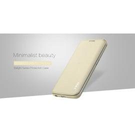 Rock ® Samsung Galaxy S6 Edge Elegante Series Skin Feel Folio Grip PU Leather Case Flip Cover