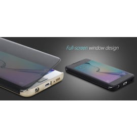Rock ® Samsung Galaxy S6/S6 Edge/S6 Edge+ DR.Vaku Invisible SmartView Translucent Touch Case Flip Cover