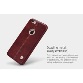 Nillkin ® Apple iPhone 6 Plus / 6S Plus Lexza Series Double Stitch Leather Shell with Metallic Logo Display Back Cover