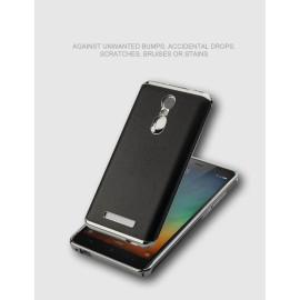 VAKU ®  Xiaomi Redmi Note 3 Lexzo Full Protection Chrome Plated Leather Back Case