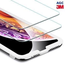 Dr. Vaku ® Apple iPhone XR ASAHI Glass & 3M Glue 2.5D Ultra-Strong Ultra-Clear Tempered Glass with Applicator