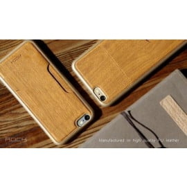 Rock ® Apple iPhone 6 Plus / 6S Plus Cana Series Thin Natural Wood Case with inbuilt Card Holder Back Cover