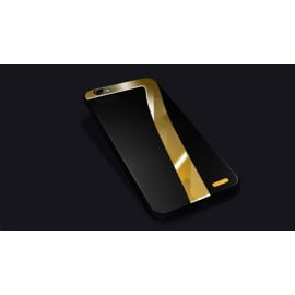 Hojar ® Apple iPhone 8 Ultra Shine Mirror 7 Finish Dual-Textured Leather Silicon Grip Back Cover