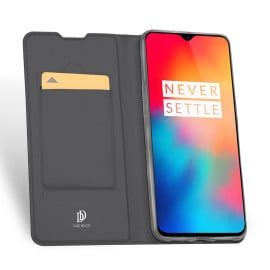 DUX DUCIS ® OnePlus 6T Skin Series Vintage Luxury Genuine leather Wallet Card Holder Flip Case