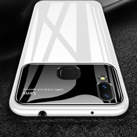 Vaku ® Vivo V9 Polarized Glass Glossy Edition PC 4 Frames + Ultra-Thin Case Back Cover