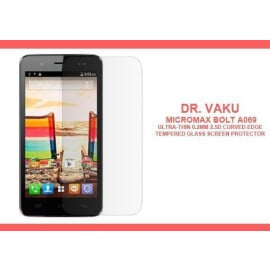 Dr. Vaku ® Micromax Bolt A069 Ultra-thin 0.2mm 2.5D Curved Edge Tempered Glass Screen Protector Transparent