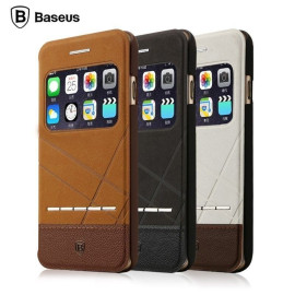 Baseus ® Apple iPhone 6 Plus / 6S Plus SlideTouch WindowView Folio Leather Case + Stand Flip Cover