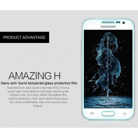 Dr. Vaku ® Samsung Galaxy Fame Ultra-thin 0.2mm 2.5D Curved Edge Tempered Glass Screen Protector Transparent