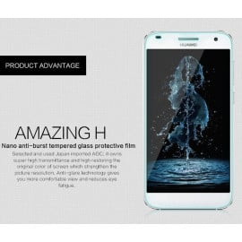 Dr. Vaku ® Huawei Ascend G6 Ultra-thin 0.2mm 2.5D Curved Edge Tempered Glass Screen Protector Transparent
