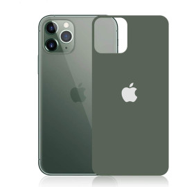 Dr. Vaku ® Apple iPhone 11 Pro Max Back Shield 9H Anti-Smudge Matte Finish Tempered Glass with Apple logo