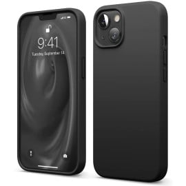Vaku ® For Apple iPhone 13 mini Liquid Silicon Velvet-Touch Silk Finish Shock-Proof Back Cover [ Only Back Cover ]