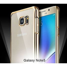 MeePhone ® Samsung Galaxy Note 5 Noble Series Metal Electroplating Bumper Transparent Back Cover