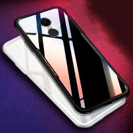 Vaku ® Xiaomi Redmi Note 5 GLASSINO Luxurious Edition Ultra-Shine Silicone Frame Ultra-Thin Case Transparent Back Cover