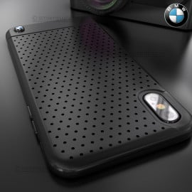 BMW ® iPhone X / XS Dotted M4 Coupe Leather Edition Black Cover