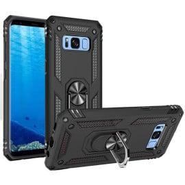 Vaku ® Samsung Galaxy S8 Armor Ring Shock Proof Cover with Inbuilt Kickstand