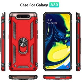 Vaku ® Samsung Galaxy A80  Armor Ring Shock Proof Cover with Inbuilt Kickstand