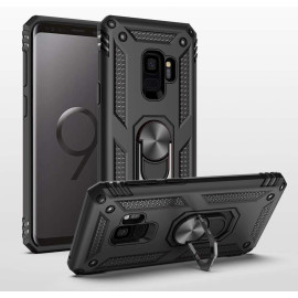 Vaku ® Samsung Galaxy S9 Armor Ring Shock Proof Cover with Inbuilt Kickstand