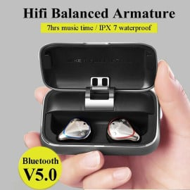 Mifo O5 Bluetooth 5.0 Earphones IPX7 Waterproofed Earbuds with 100 Hours Playtime, Hi-Fi Sound Wireless Headphones, Built-in Mic with 2600mAh Portable Charging Case