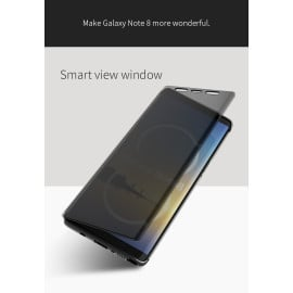 Rock ® Samsung Galaxy Note 8 DR.Vaku Invisible SmartView Translucent Touch Case Flip Cover