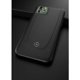 Mercedes Benz ® Apple iPhone 11 Pro Urban Collection Genuine Smooth Leather Back Cover