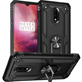 Vaku ® Oneplus 6T Armor Ring Shock Proof Cover with Inbuilt Kickstand