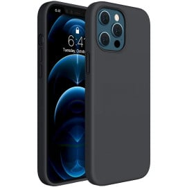 Vaku ® For Apple iPhone 12 Pro Max Liquid Silicon Velvet-Touch Silk Finish Shock-Proof Back Cover