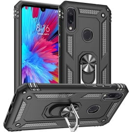 Vaku ® Xiaomi Redmi Note 7 / Note 7 Pro / Note 7S Armor Ring Shock Proof Cover with Inbuilt Kickstand