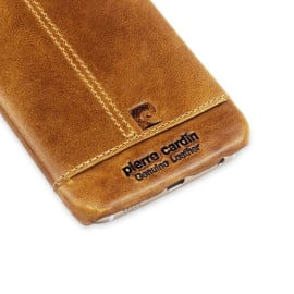 Pierre Cardin ® Samsung Galaxy S6 Edge Paris Design Premium Leather Case Back Cover