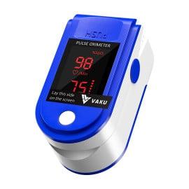 eller santé ® Pulse Oximeter Fingertip, Multipurpose Digital Monitoring Pulse Meter Rate & SpO2 with LED Digital Display [Battery included] - Blue